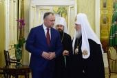 Состоялась встреча Святейшего Патриарха Кирилла с Президентом Республики Молдова И.Н. Додоном