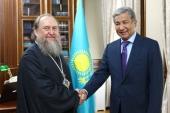 Состоялась встреча митрополита Астанайского и Казахстанского Александра с послом Казахстана в России И.Н. Тасмагамбетовым