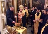 Президент Сербии Александр Вучич посетил московское подворье Сербской Православной Церкви