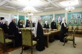 Святейший Патриарх Кирилл возглавил последнее в 2017 году заседание Священного Синода Русской Православной Церкви
