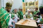 Митрополит Санкт-Петербургский Варсонофий освятил храм святого Феодора Новгородского в Александро-Невской лавре