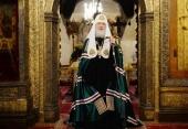 Слово Святейшего Патриарха Кирилла в день памяти святителя Петра Московского после Литургии в Успенском соборе Кремля