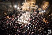 Предстоятель Украинской Православной Церкви возглавил праздничное богослужение в день Рождества Христова