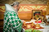 Блаженнейший митрополит Онуфрий возглавил богослужение в киевском Пантелеимоновом монастыре в Феофании