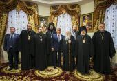 В Казанском епархиальном управлении состоялась встреча архипастырей Татарстанской митрополии с президентом Татарстана