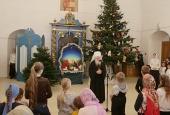 Патриарший наместник Московской епархии поздравил детей на Рождественской елке в Новодевичьем монастыре г. Москвы