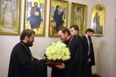 Митрополит Волоколамский Иларион поздравил заместителя председателя ОВЦС архимандрита Филарета (Булекова) с 50-летием