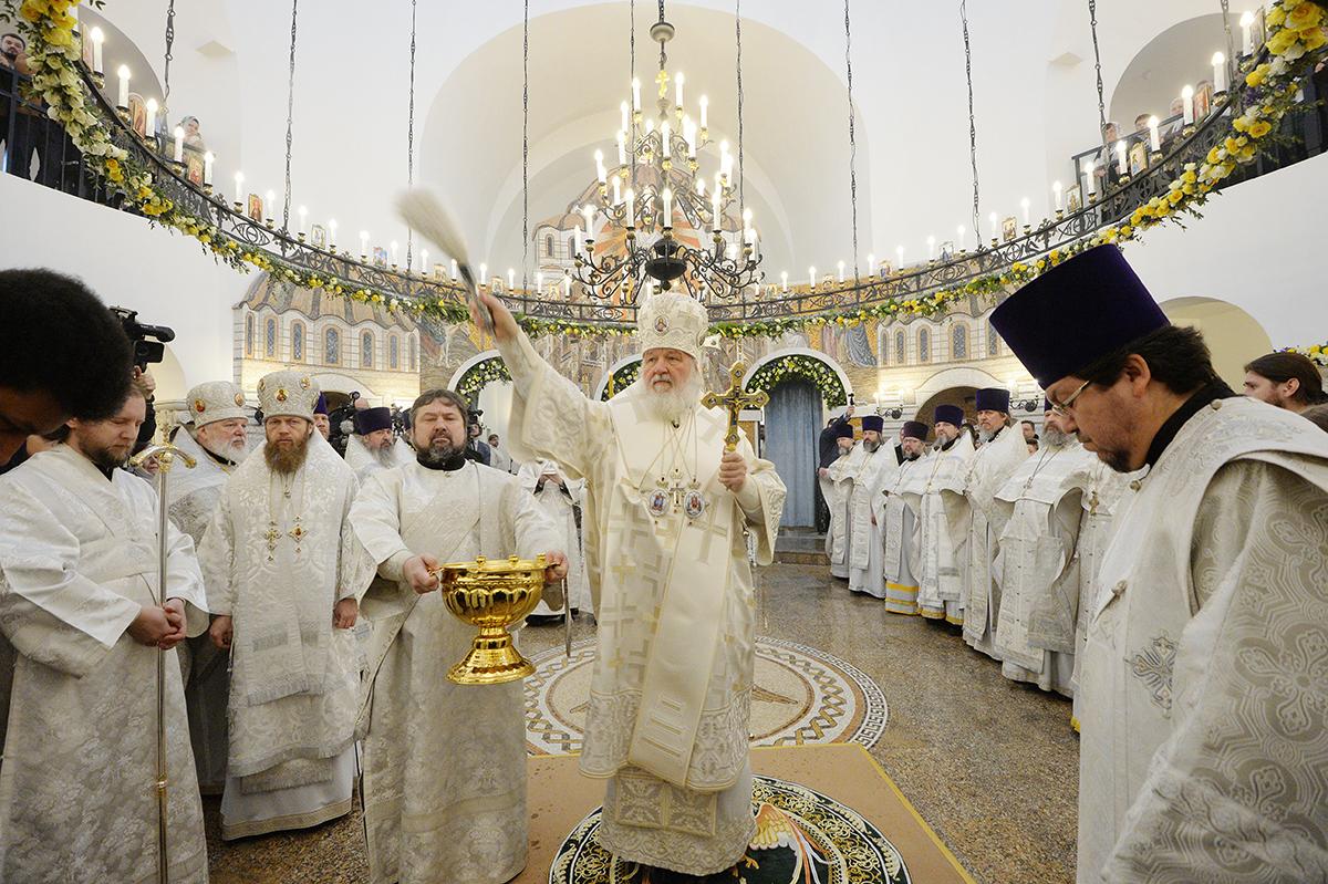 Патриаршее служение в московском храме в честь иконы Божией Матери «Воспитание» в Некрасовке
