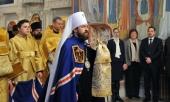 Митрополит Волоколамский Иларион совершил Литургию в престольный праздник московского храма Усекновения главы Иоанна Предтечи под Бором