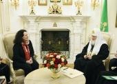 Святейший Патриарх Кирилл встретился с послом Франции в России