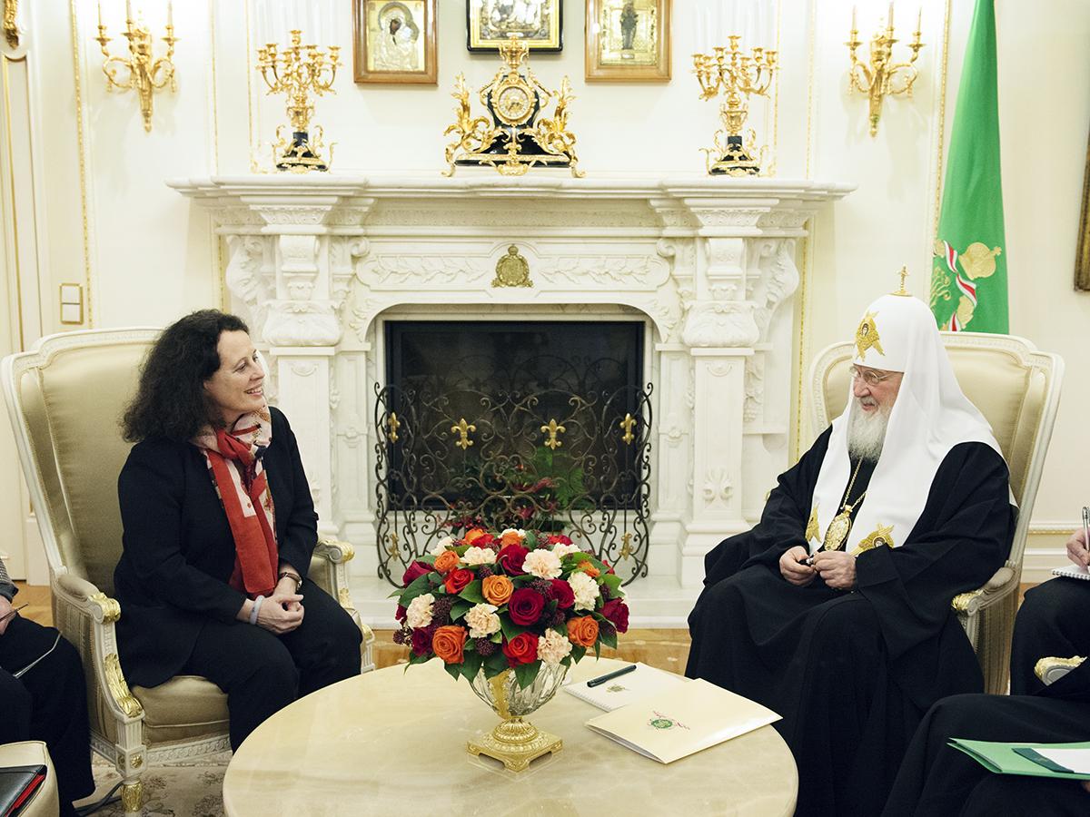 Встреча Святейшего Патриарха Кирилла с послом Франции в России
