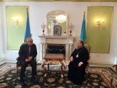 Глава Казахстанского митрополичьего округа встретился с послом Греции в Казахстане