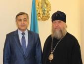 Состоялась встреча главы Казахстанского митрополичьего округа с министром по делам религий и гражданского общества Республики Казахстан