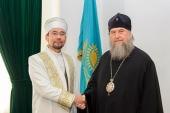 Состоялась встреча митрополита Астанайского и Казахстанского Александра с новоизбранным председателем Духовного управления мусульман Казахстана