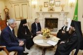 Святейший Патриарх Кирилл встретился с главой Северной Осетии В.З. Битаровым