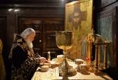 В девятую годовщину интронизации Святейшего Патриарха Кирилла в Храме Христа Спасителя совершена Божественная литургия