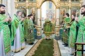 В день памяти блаженной Валентины Минской Патриарший экзарх всея Беларуси совершил Литургию в Свято-Духовом кафедральном соборе Минска