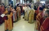 Святейший Патриарх Сербский Ириней совершил богослужение на подворье Русской Церкви в Белграде
