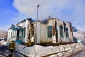 В Казахстане сгорел православный храм
