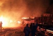 Пожар уничтожил семь построек Успенского монастыря в Крыму