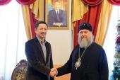 Митрополит Астанайский Александр и ответственный секретарь Министерства культуры Казахстана обсудили вопросы реставрации Вознесенского собора Алма-Аты
