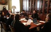В Издательском Совете прошло очередное заседание рабочей группы по кодификации акафистов и выработке норм акафистного творчества