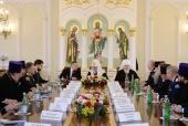 Святейший Патриарх Кирилл встретился с атаманами реестровых казачьих войск и войсковыми казачьими священниками
