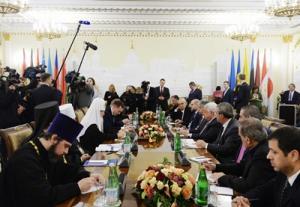 Состоялась встреча Святейшего Патриарха Кирилла с Президентом Государства Палестина Махмудом Аббасом