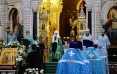 Слово Святейшего Патриарха Кирилла в праздник Сретения Господня после Литургии в Храме Христа Спасителя