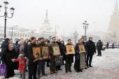 На железнодорожных вокзалах Москвы прошли молебны о мире
