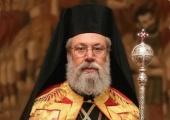 Поздравление Предстоятеля Русской Церкви Блаженнейшему Архиепископу Кипрскому Хризостому с 40-летием архиерейской хиротонии