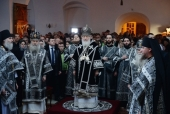Святіший Патріарх Кирил звершив Літургію Передосвячених Дарів на московському подвір'ї Троїце-Сергієвої лаври
