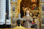В Неделю Торжества Православия Предстоятель Русской Церкви совершил Литургию в Храме Христа Спасителя в Москве