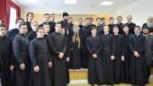 В Донской духовной семинарии прошла встреча со схиархимандритом Илием (Ноздриным)