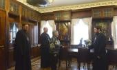 Председатель ОВЦС поздравил многолетнюю сотрудницу Отдела Е.С. Сперанскую с юбилеем