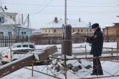 Неизвестные вновь спилили поклонный крест, установленный на месте церкви святого мученика Виктора в Архангельске