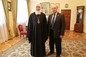 Митрополит Калужский Климент встретился с новым председателем Союза писателей России