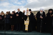 Святейший Патриарх Кирилл принял участие в торжествах по случаю Национального праздника Республики Болгария на вершине Шипки