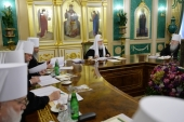 Святейший Патриарх Кирилл возглавил первое в 2018 году заседание Священного Синода Русской Православной Церкви