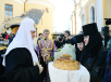 Патриаршее служение в день 20-летия обретения мощей блаженной Матроны Московской в Покровском монастыре города Москвы