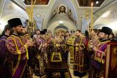В Неделю Крестопоклонную Предстоятель Русской Церкви освятил храм святых мучеников Михаила и Феодора Черниговских в Москве