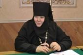 Патриаршее поздравление настоятельнице Пюхтицкого монастыря игумении Филарете (Калачевой) с юбилеем