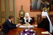 Святейший Патриарх Кирилл встретился с главой администрации Тамбовской области А.В. Никитиным и митрополитом Тамбовским Феодосием