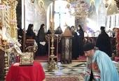 Митрополит Киевский Онуфрий возглавил праздничное богослужение в Русском Пантелеимоновом монастыре на Афоне