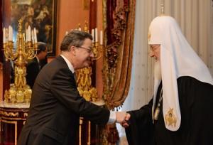 Святейший Патриарх Кирилл встретился с послом Швейцарии в России