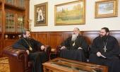 Митрополит Волоколамский Иларион встретился с представителями Грузинской Православной Церкви
