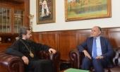 Митрополит Волоколамский Иларион провел встречу с главой иорданской дипломатической миссии
