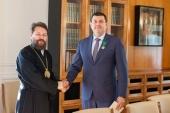 Митрополит Волоколамский Иларион встретился с руководителем Департамента культурного наследия города Москвы Алексеем Емельяновым
