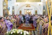 В день памяти праведной Софии Слуцкой Патриарший экзарх всея Беларуси совершил Литургию в Свято-Духовом соборе Минска