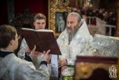 В Лазареву субботу Предстоятель Украинской Православной Церкви возглавил Литургию в Киево-Печерской лавре
